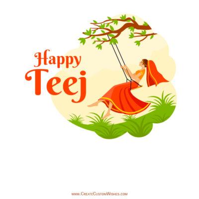 Create Hariyali Teej Wishes for Company