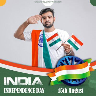 Create Independence Day Whatsapp Status Image with Photo