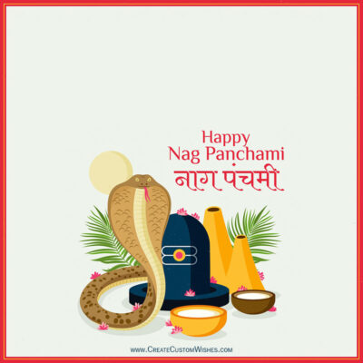 Create Nag Panchami Greeting Card Free