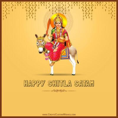 Create Shitala Satam Wishes Image Online
