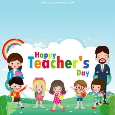 Customized Teachers Day Wishes Image