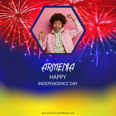 Edit Armenia Independence Day with Photo Frame