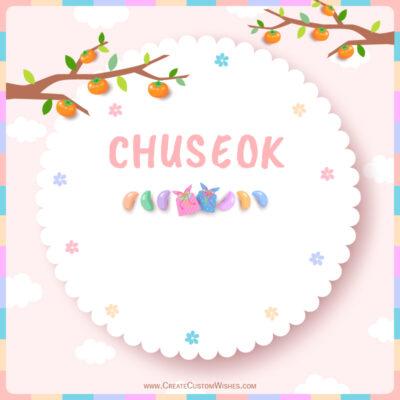 Editable Chuseok Festival Greeting Cards
