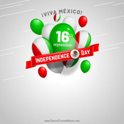Editable Mexico Independence Day Greeting Cards