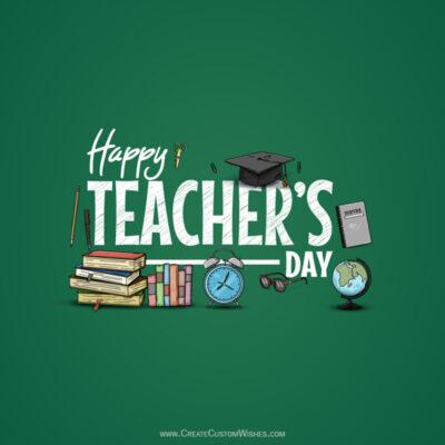 Editable World Teachers Day Wishes Image