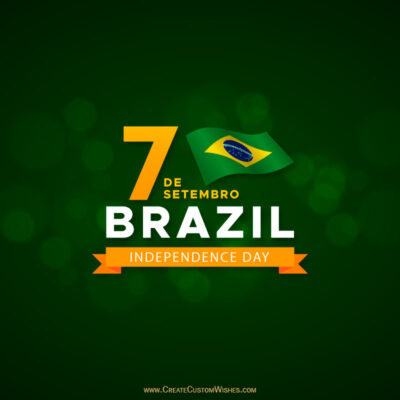 Greeting Cards for Independence Day of Brazil 2021