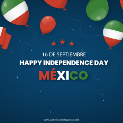 Greeting Cards for Independence Day of Mexico 2021