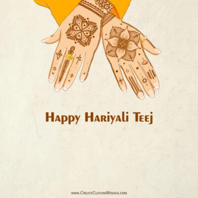 Happy Hariyali Teej Wishes with Name