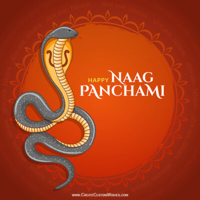 Happy Nag Panchami Wishes with Name