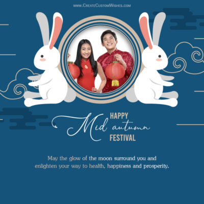 Personalized Mid-Autumn Festival Greetings with Photo