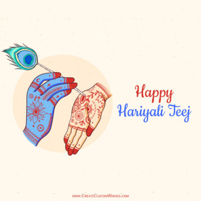 Write Name / Text / Quote on Hariyali Teej Image