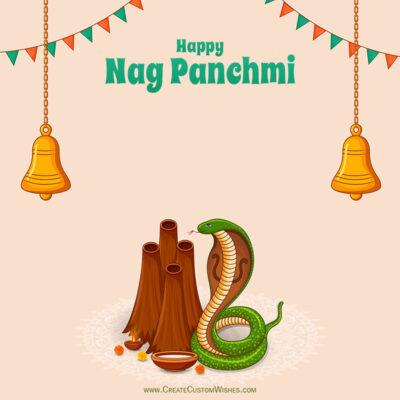 Write Name / Text / Quote on Nag Panchami Image