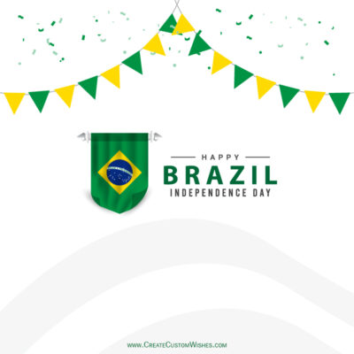 Write Name / Text / Quotes on Brazil Independence Day Pic