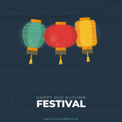 Write Text / Quote / Name on Mid-Autumn Festival Wishes Image