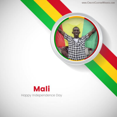 Add Photo on Mali Independence Day Wishes Image