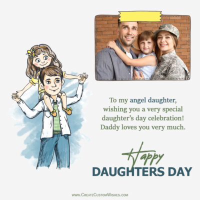 Add Photo on Daughters Day Wishes Image
