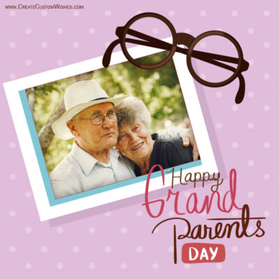 Add Photo on Grandparents Day Wishes Image