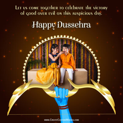 Add Photo on Happy Dussehra Wishes Image