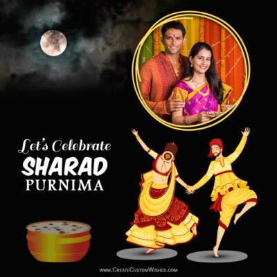 Add Photo on Happy Sharad Purnima Wishes