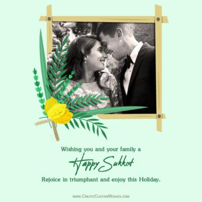 Add Photo on Happy Sukkot Wishes Image