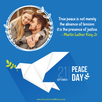 Add Photo on International Day of Peace Wishes Image