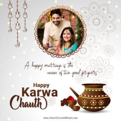 Add Photo on Karwa Chauth Wishes Image