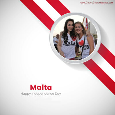 Add Photo on Malta Independence Day Wishes Image
