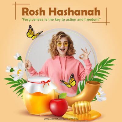 Add Photo on Rosh Hashanah Greeting Card