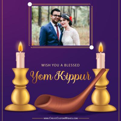 Add Photo on Yom Kippur Wishes Image