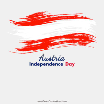Create Austria Independence Day Wishes Image Online