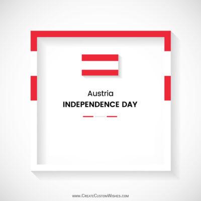 Create Austria National Day Greeting Card