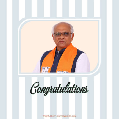 Create Best Wishes Image for Bhupendra Patel