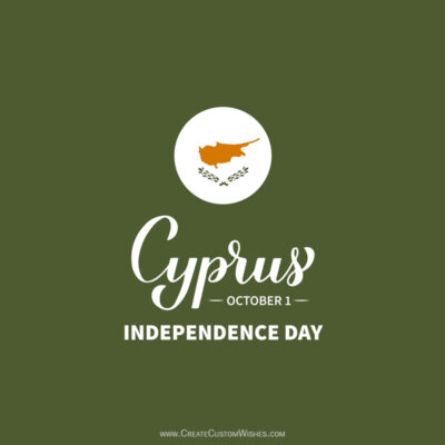 Create Cyprus Independence Day Greeting Card