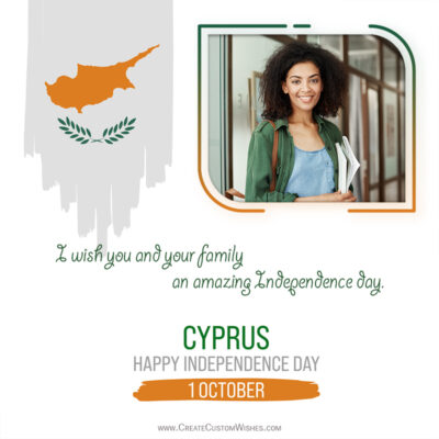 Create Cyprus Independence Day Wishes with Photo