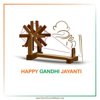 Create Gandhi Jayanti Wishes Image for Company