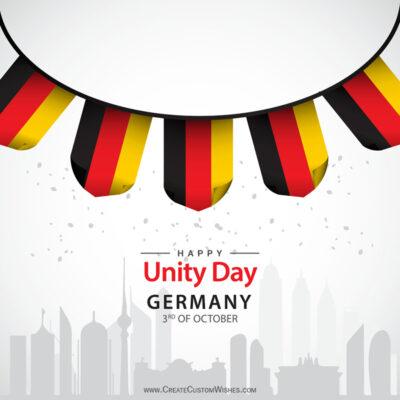 Create German Unity Day Greeting Card