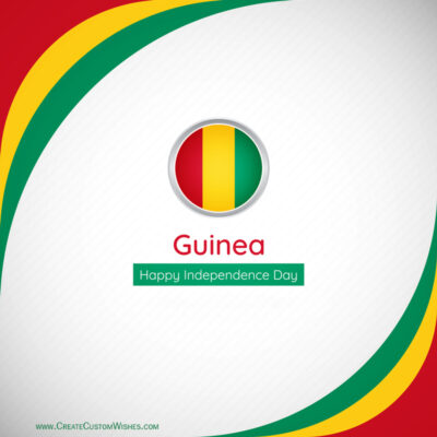 Create Guinea Independence Day Greeting Card