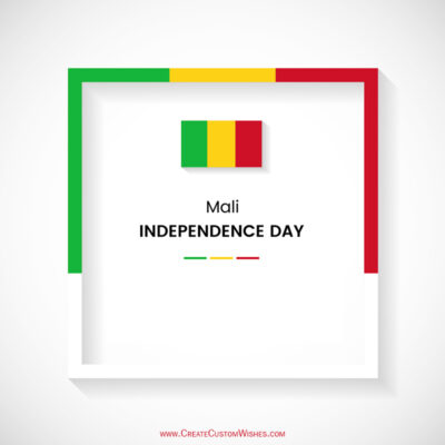 Create Mali Independence Wishes with Name