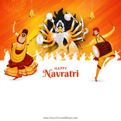 Create Navratri Wishes Image for Company