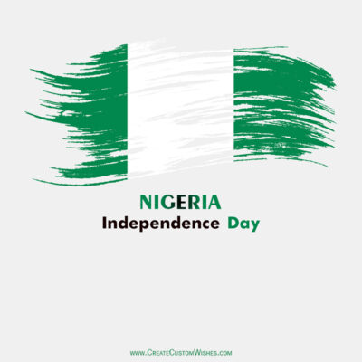 Create Nigeria Independence Day Greeting Card