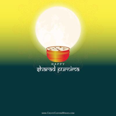 Create Sharad Purnima Image for Company