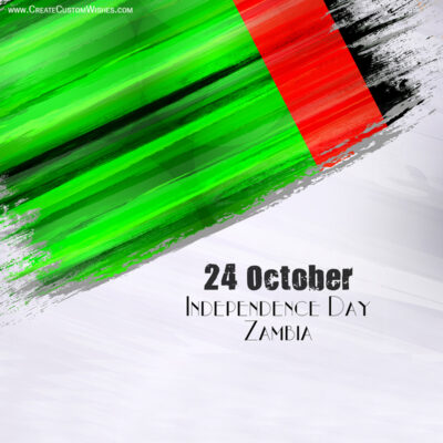 Create Zambia Independence Day Greeting Card