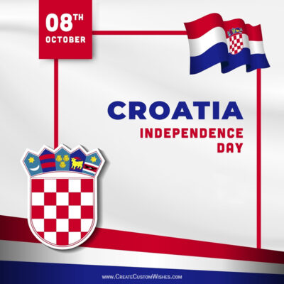 Croatia Independence Day Wishes with Name