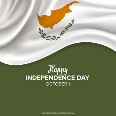 Cyprus Independence Day with Name Wishes