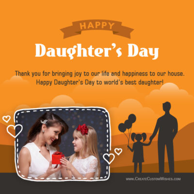 Daughters Day with Photo Wishes Frame - Maker