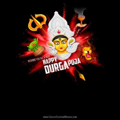 Durga Puja Wishes Image for Whatsapp Status