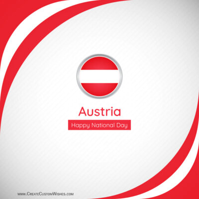 Editable Austria National Day Greeting Cards