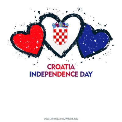 Editable Croatia Independence Day Greeting Cards
