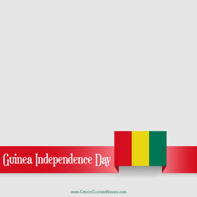 Editable Guinea Independence Day Greeting Cards