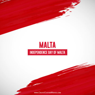 Editable Malta Independence Day Greeting Cards